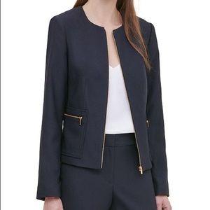 Calvin Klein Twill Zipper-Front Jacket